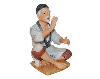 Vintage Homco Asian Sitting Man - Taiwan