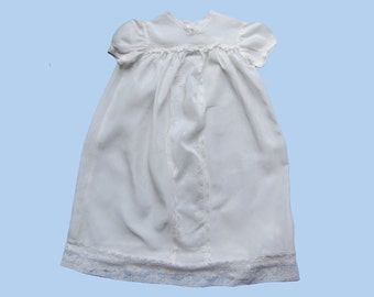 Vintage 3-Piece White Baby Girl Christening Gown