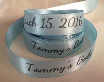 Personalized Baby Shower Ribbon