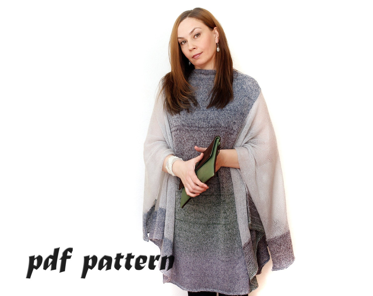 Knitted poncho pattern pattern plus size poncho knitted poncho zoom bankloansurffo Gallery