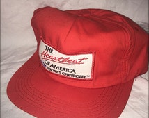 Vintage 90's Heartbeat of America Chevy Chevrolet Bowtie Snapback Hat Cap