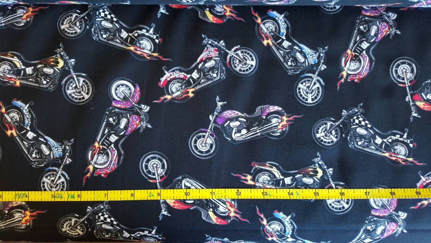 100% cotton Quilting fabric by the 1/2 yard motorcycle biker ... : motorcycle quilting fabric - Adamdwight.com