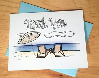 Thank You Card: Beach