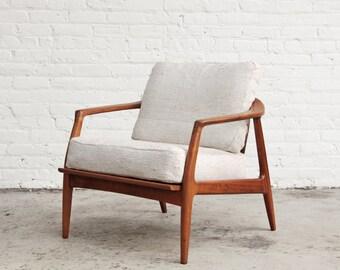Milo Baughman Teak Lounge Chair Mid Century