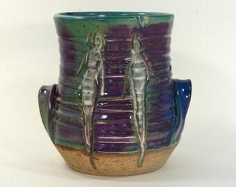 green purple wine coaster flower pot silverware caddy wine cooler utensil holder