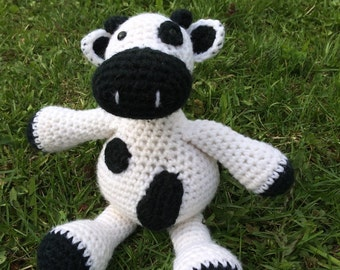 Crochet Cow, Black and White