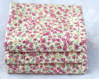 Wine and Cream Floral Fat Quarter