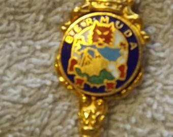 Collector Souvenir Spoon  Bermuda Goldtone  SP175