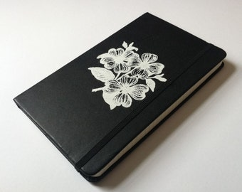 Large White Floral Journal