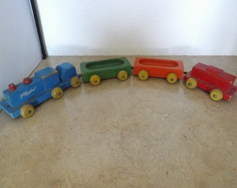 Wooden Playskool Train