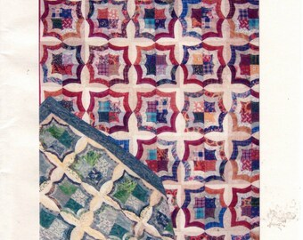 Scrappy Spiderweb, Bullseyes, and More Quilting Pattern A Slash and Switch, Frayed Edge Quilt