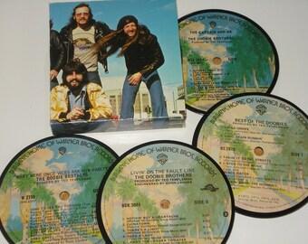The DOOBIE BROTHERS coasters vinyl record coasters