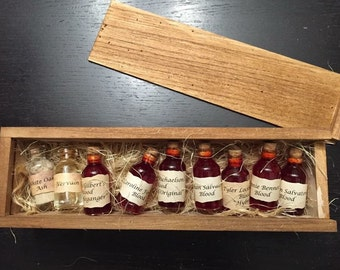 The Originals and Vampire Diaries Collectible (Blood, Vervain, White Oak Ash) Vial Gift Set - Custom