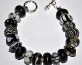 Lot of High Quality Handcrafted Black Murano European Beads