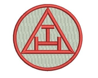 Royal Arch Chapter embroidery design