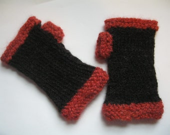 Red and Black Mitts