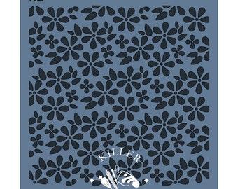 "Spring Flowers 5.5"" x 5.5"" Stencil"