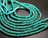 14 Inches Strand,Natural ARIZONA TURQUOISE Faceted Rondelles,Size 5-5-5mm