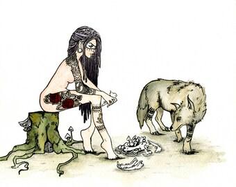 La Loba Collecting Bones