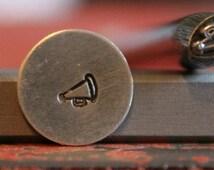 Cheer Megaphone Metal Stamp Perfect for Metal Stamping and Jewelry Design Work  SGU-15