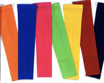 NEW! Solid Color Moisture Wicking Compression Sports Arm Sleeves - Several Colors & Sizes Available!