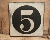 Gallery Wall Number Sign, SALE  Reg. 15.00 Family Number Sign, Custom Wooden Sign, Farmhouse Decor, Primitive Decor, Rustic Decor