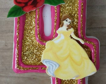 Belle Birthday Candle, Princess Birthday Candle