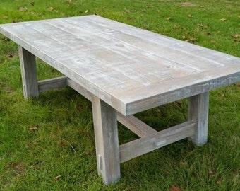 Farmhouse Trestle Table | Dining Table -shipping included