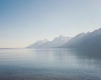 Jackson Lake, Mountain Photography, Wyoming Photography, Travel Photography, Rocky Mountains Print, Mountain Art, Teton Mountains, Fall
