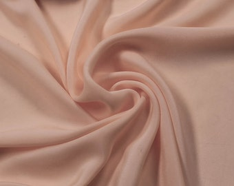 Pink Dusty Solid CDC 75D Crepe De Chine  Fabric by the Yard- Style 3003