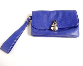 Cobalt Blue JLo Wristlet