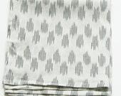 White Polka Dot Dinner Napkin- Set of 4- Wedding Napkins- Wedding Gift