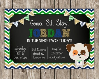 Puppy Dog Invitation | Puppy Party Invitation | Dog Birthday Party | DIY Printable