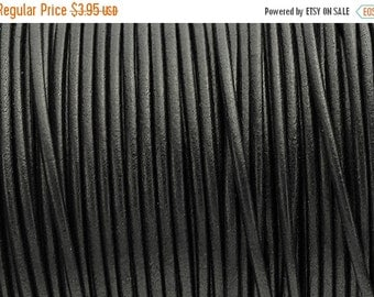 up to 35% Off 2MM Round Leather Cord - Black - 2Yards/6ft - High Quality European Leather Cord