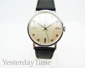 Timex Marlin 1971 Silver Dial Gents Manual Watch