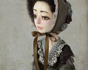 "Art doll, OOAK, handmade doll "" Annabel"""