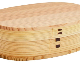 From Japan Magewappa Lunch Bento Box Akita Sugi Wood