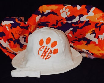 Personalized Clemson Baby Sun/Beach Hat  NB-12 Month
