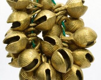 """Vintage Style Brass Sleigh Bells Camel Horse Sheep Bells Lot 22 Pcs 1.2""""Ht 390gm   AN2134"""