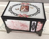 stained glass loss of pet memory box keepsake box shabby chic cottage chic