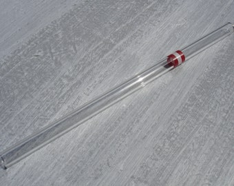 "Glass drinking straw ""Austria"", single, 10 x 200 mm, straight"