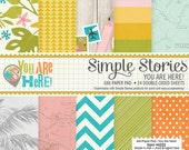 Simple Stories - You Are Here! - 6x6 Paper Pad - 24 Sheets - 6222