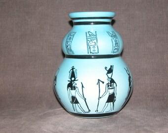 NEW Egyptian ware ( Lt Blue) Double Gourd Vase