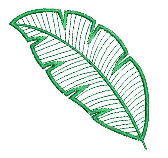 Leaf applique design machine embroidery