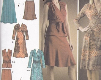 Simplicity 4074 Vintage Pattern Womens Pull Over Dress, Top, and Skrt Size 6,8,10,12,14 UNCUT