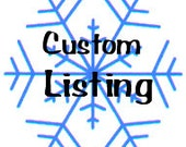 Custom listing for Lindsay Crawford
