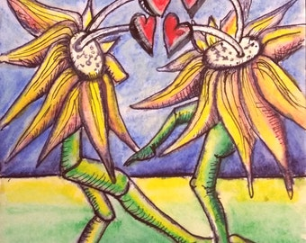 A Pair of Dancing Daisies