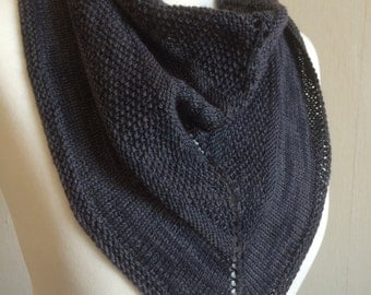 Hand Knitted Triangle Scarf