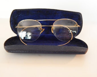 1940's Wire Eyeglasses with Case