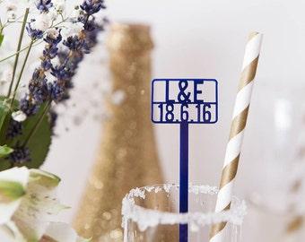 Personalised Wedding Cocktail Stirrers - Drink Stirrers - Stir Sticks - Wedding Decor - Custom Wedding Favours - Bridal Shower Decor - Favor